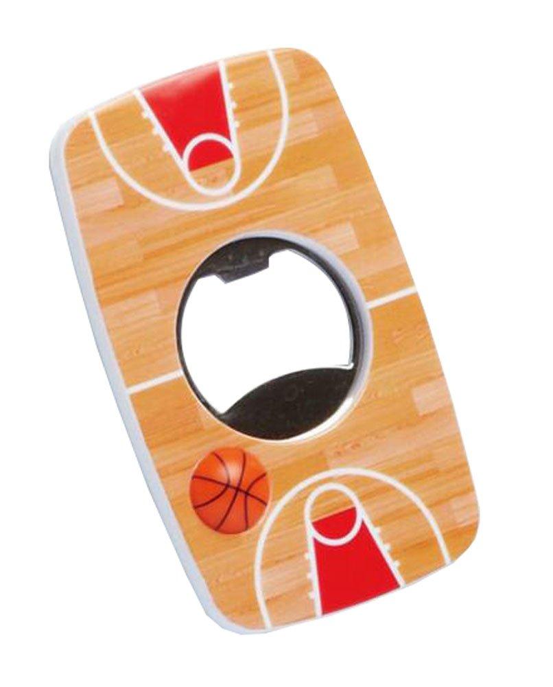 magnet beer bottle opener basketball pattern