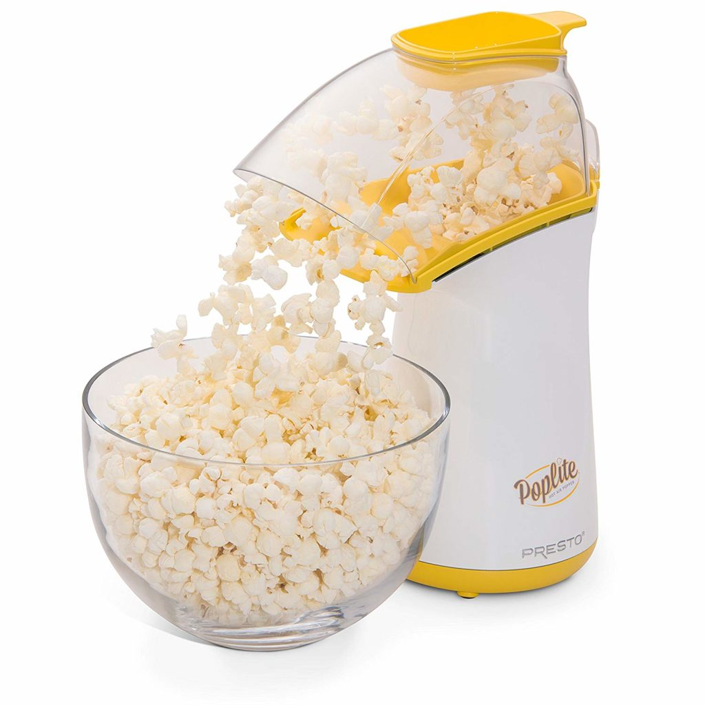 Making Popcorn in a Hot Air Popper