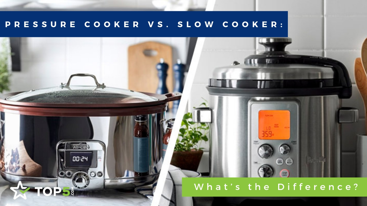 pressure cooker vs. slow cooker the difference