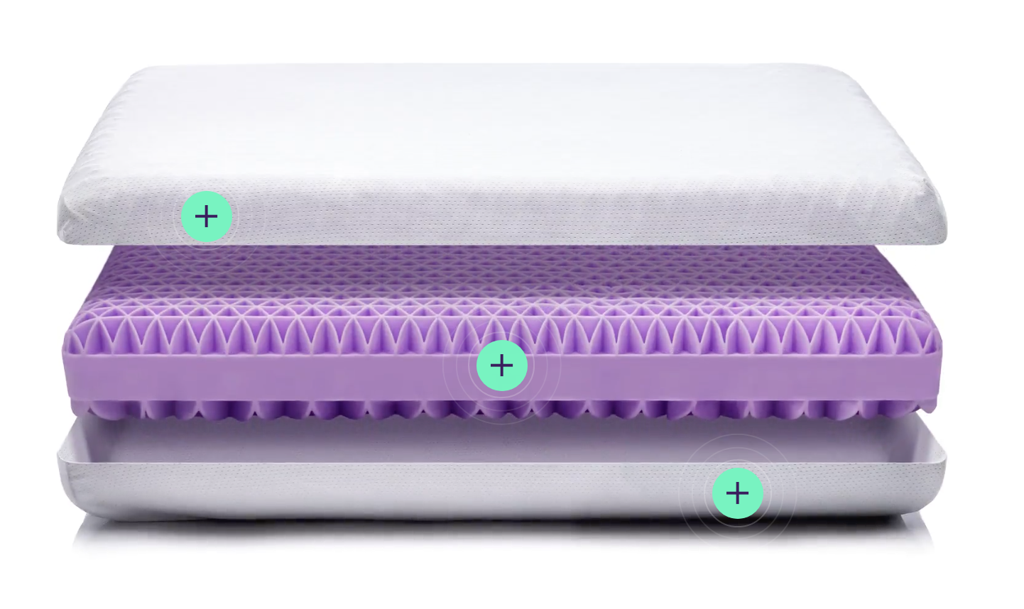 purple memory foam pillow