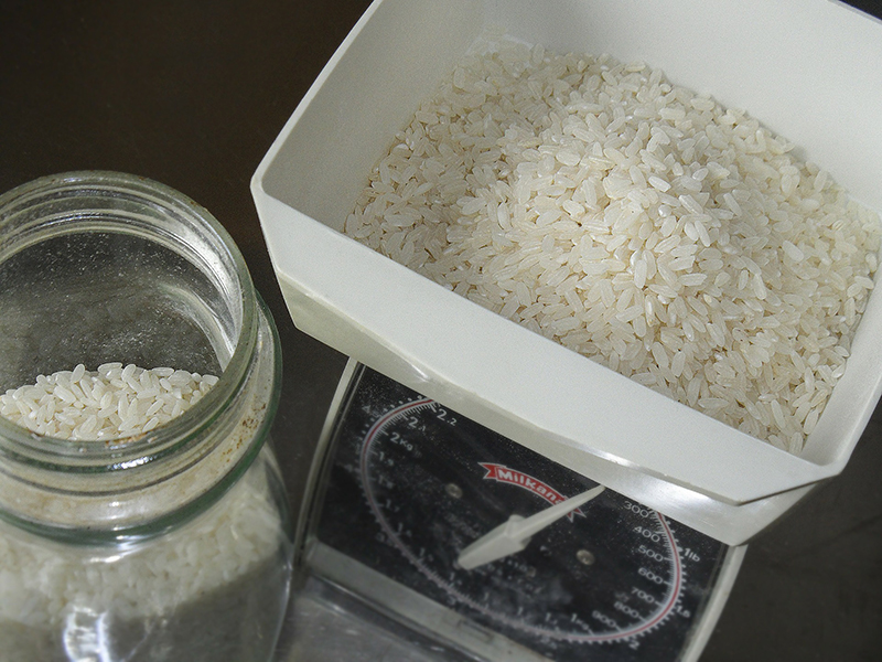 Weighing Rice
