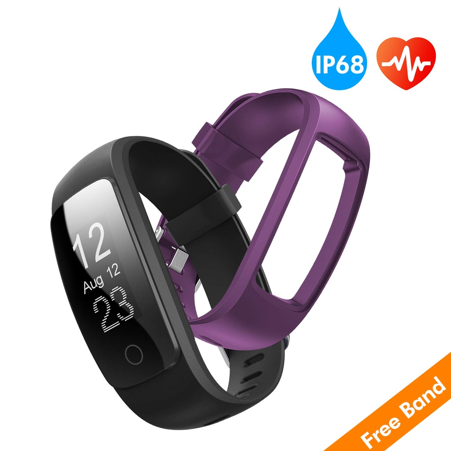runme fitness tracker with heart rate monitor