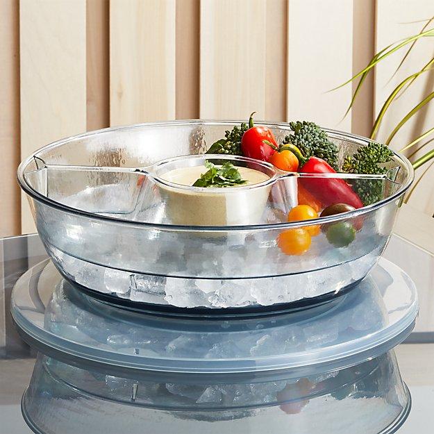 snack holder chip:dip bowl