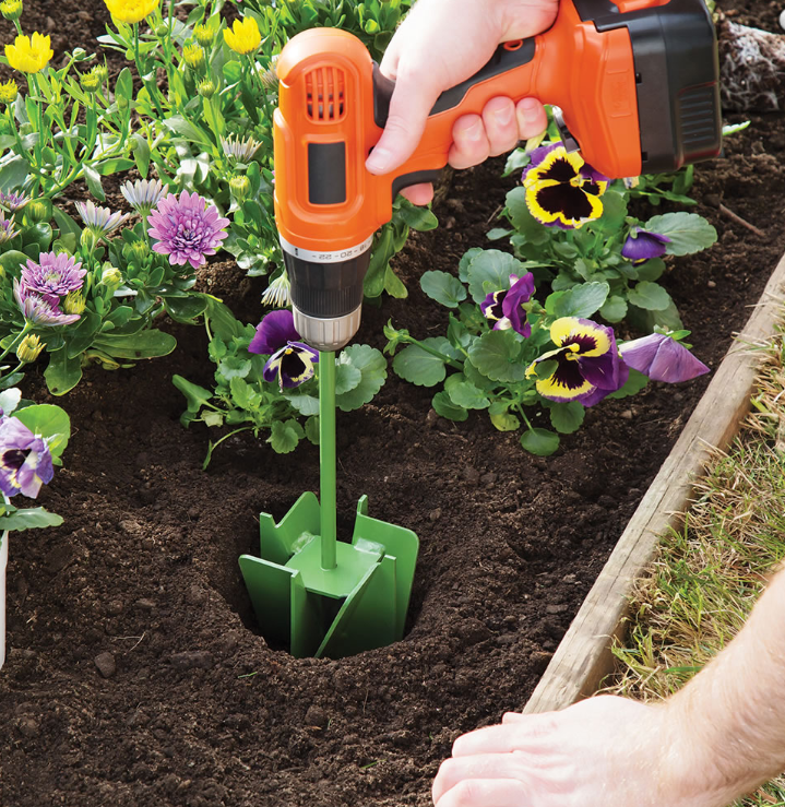 spring gardening 9 flower bed hole digging bit