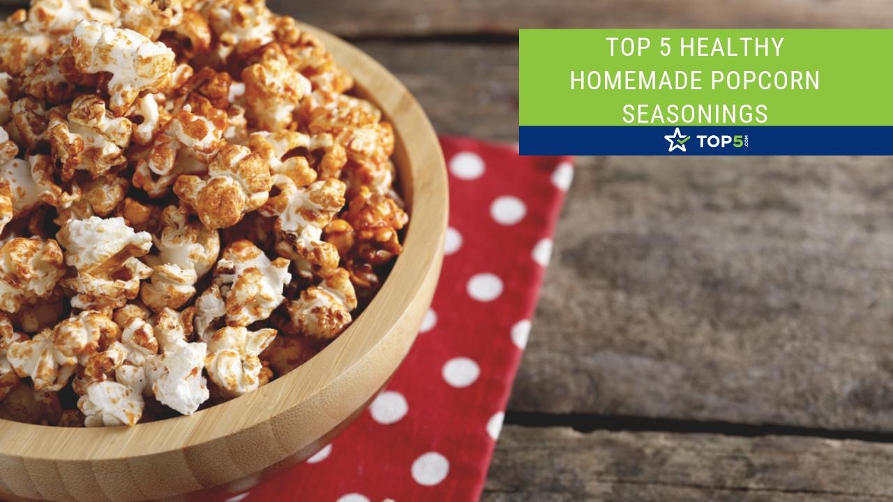 top 5 healthy homemade popcorn seasonings