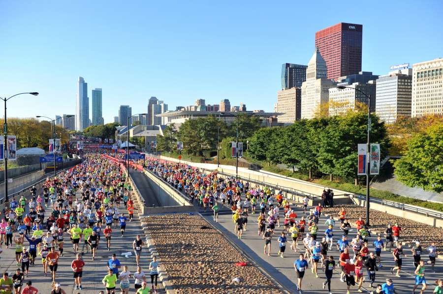 top running events in the us chicago marathon
