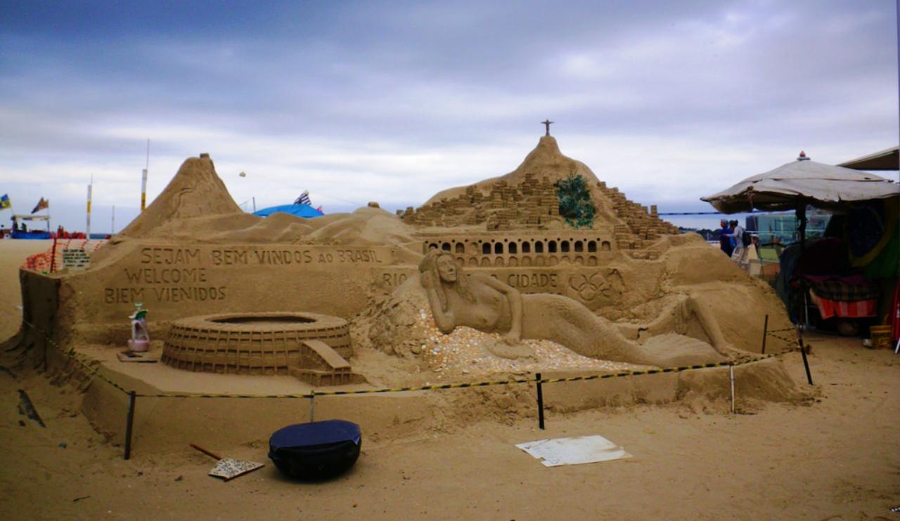 Viva Brazil among sandcastles