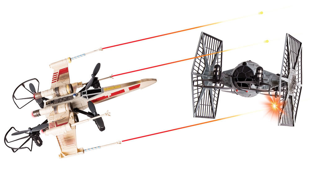 x-wing tie fighter drones
