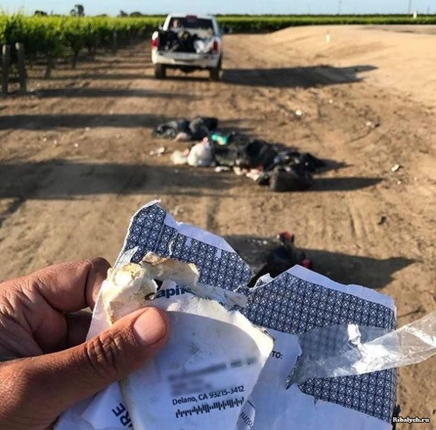 Man Finds Garbage Dumped On His Farm, Spots Address In Trash