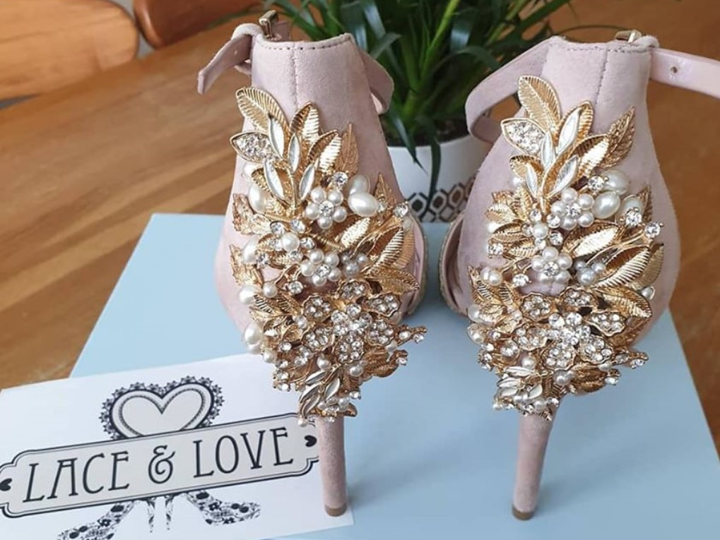 bespoke wedding shoes for Emma Letts