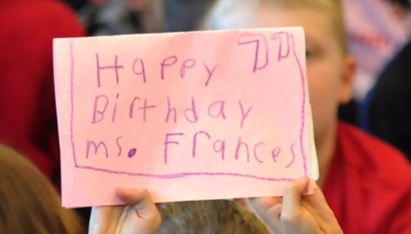 a happy birthday for Francis the jantor