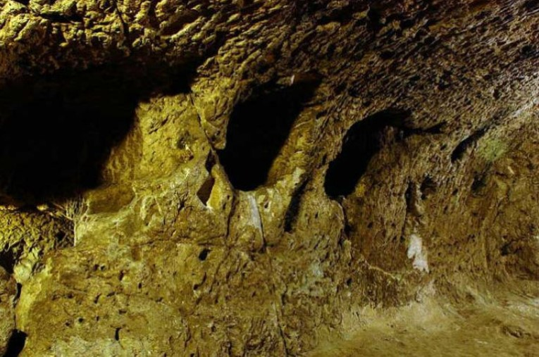 the catacombs inside the underground cave