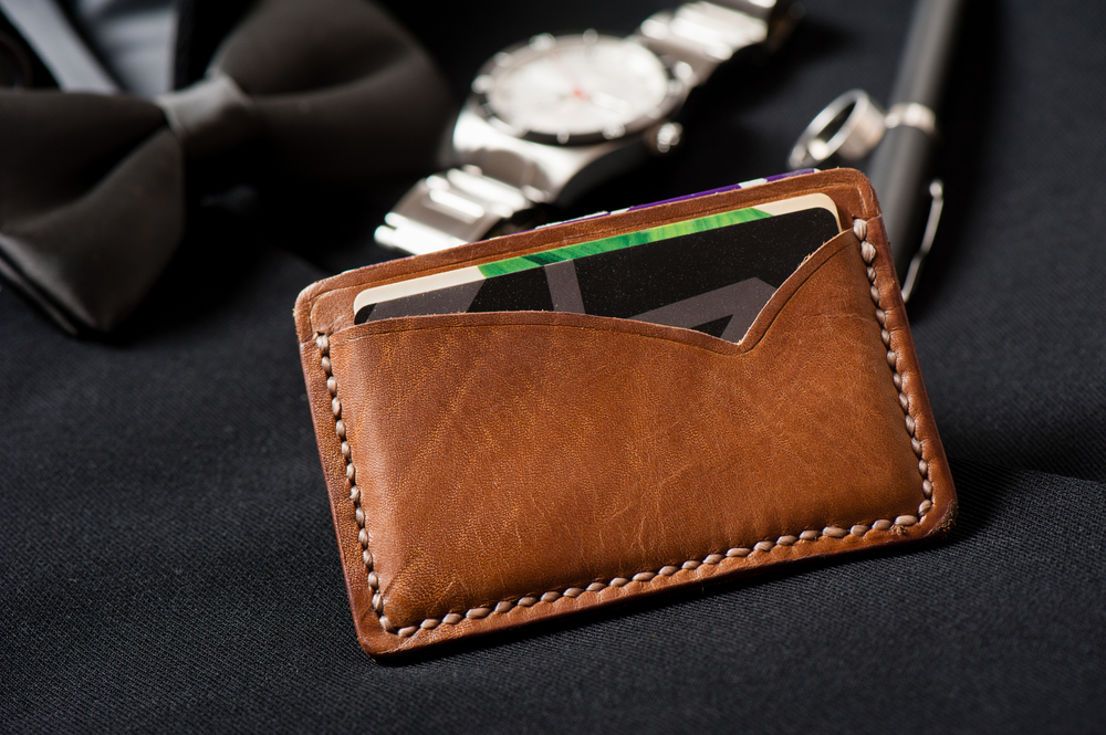 brown leather wallet
