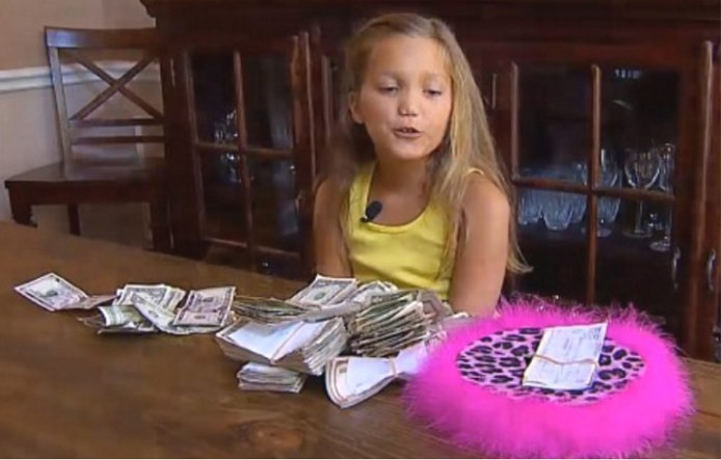Addie tucked the money into her backpack