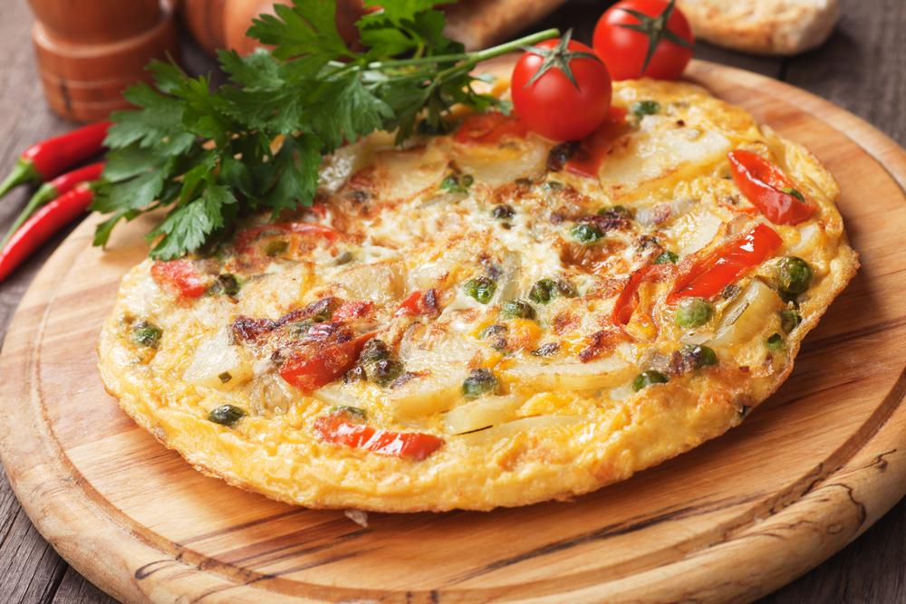slow cooker veggie omelette