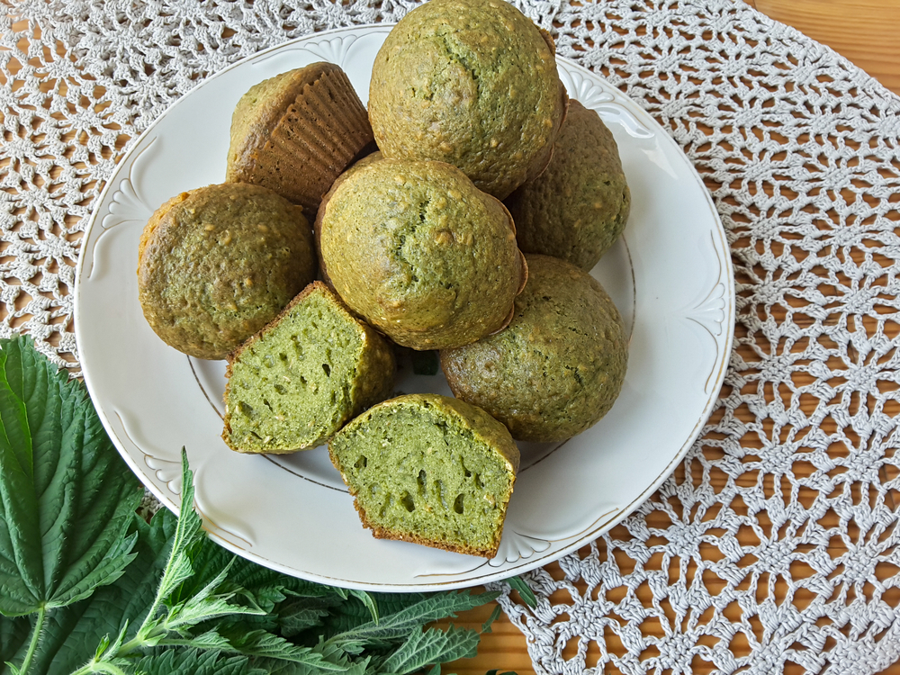 bake oatmeal green smoothie muffins