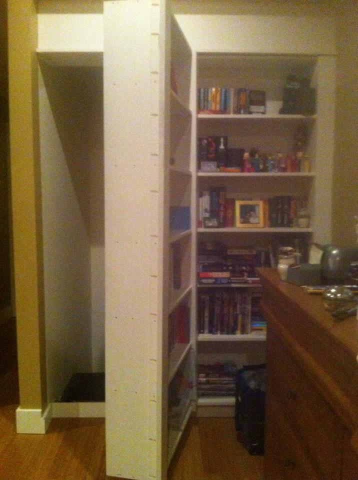 bookshelf that opens