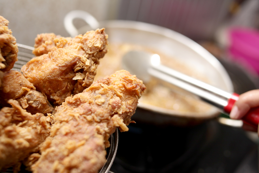 deep fried chicken made at home