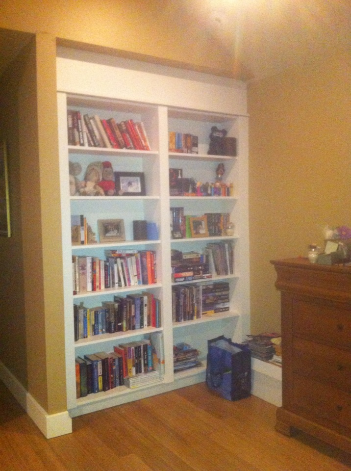 library inside home on wall