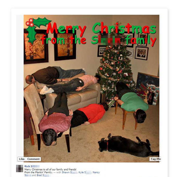 planking during the holidays