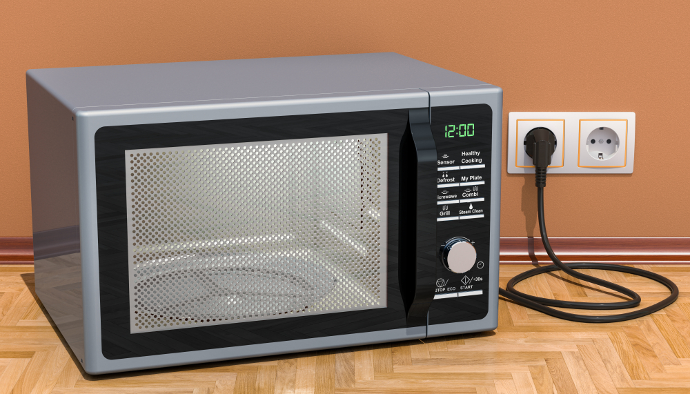 plugged-in microwave