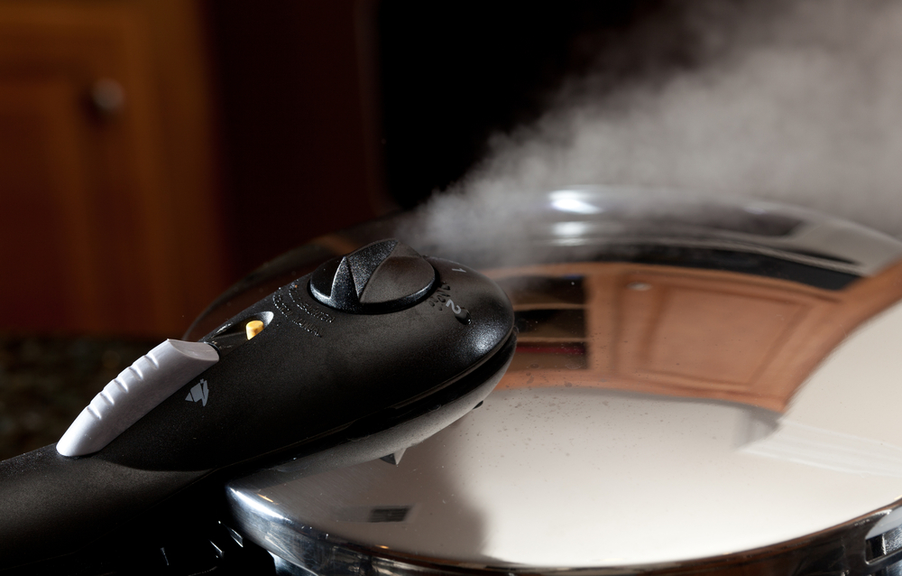 steam coming out of pressure cooker