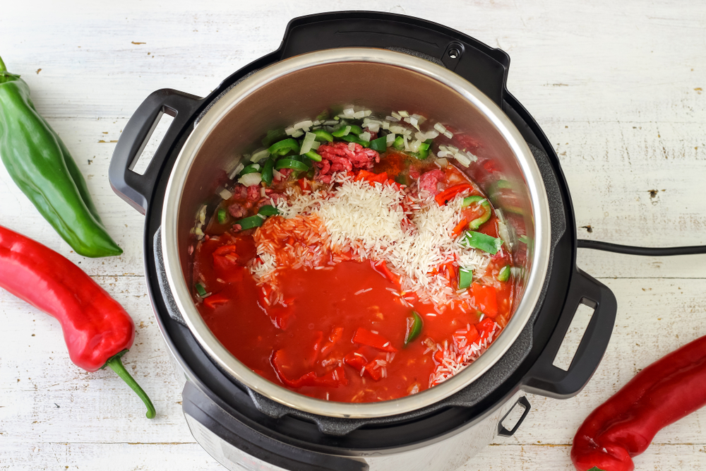 stuffed pepper soup in pressure cooker