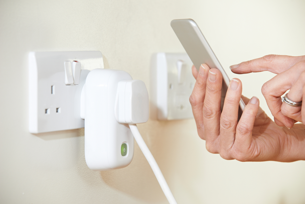 controlling a device with a smart plug