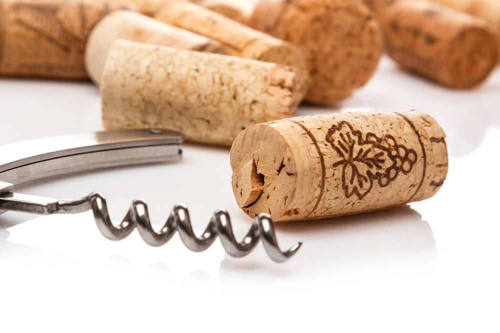 corks and a corkscrew