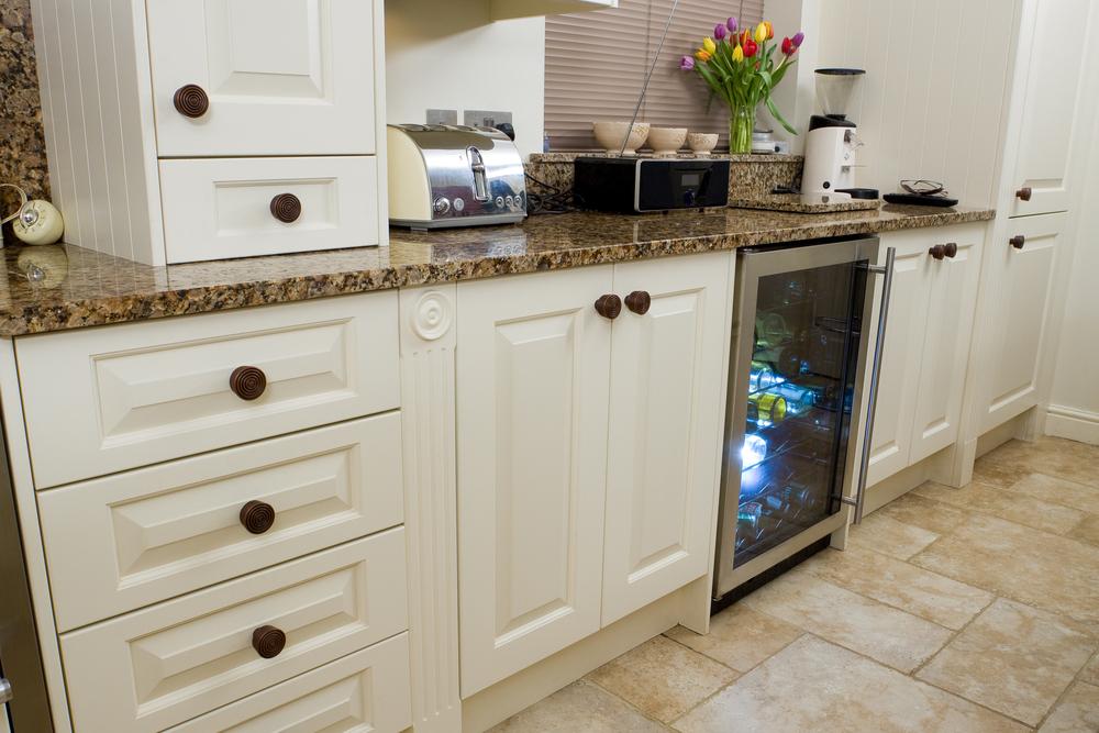 modern kitchen with wine cooler