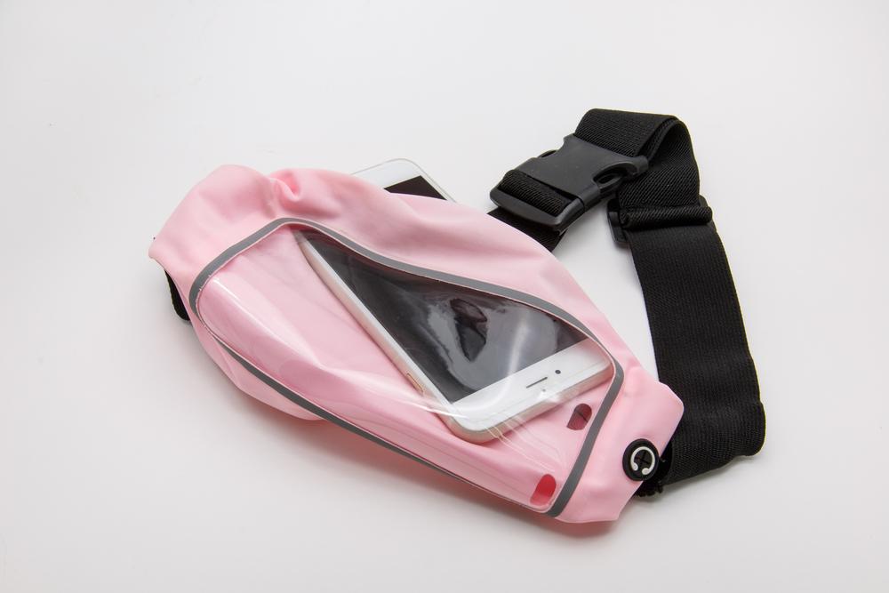 pink running belt