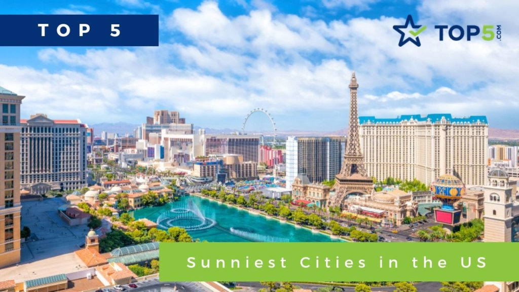 top 5 sunniest cities in the us