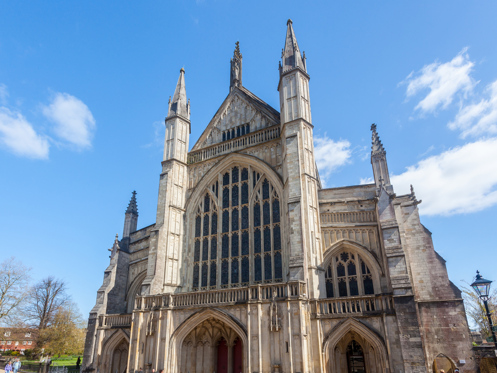 winchester cathedral england uk europe