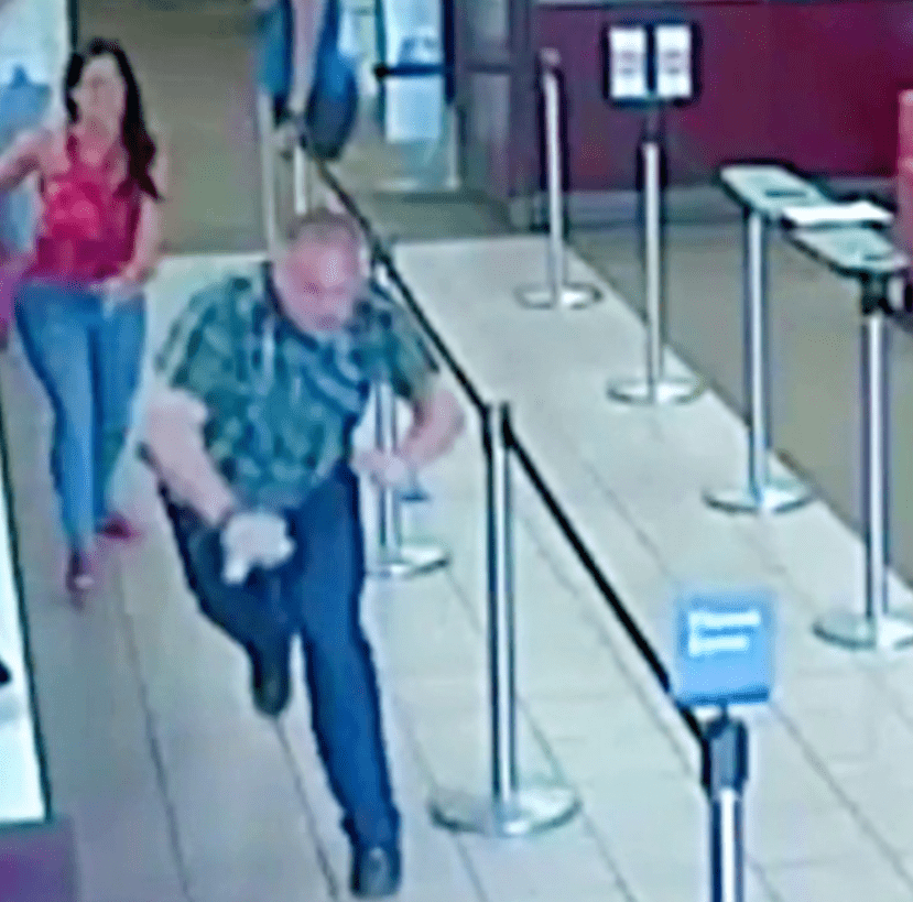 Man Tells Grandma To Give Her Cash, But When She Turns Around He's Scared