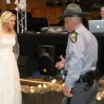 As This Bride Was Reciting Her Vows, She Told Six Police Officers To Stand Behind Groom