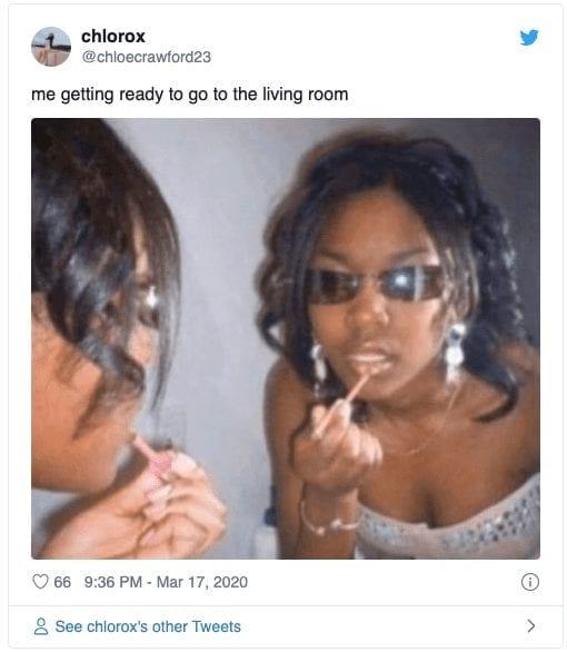 Living Room Quarantine Meme