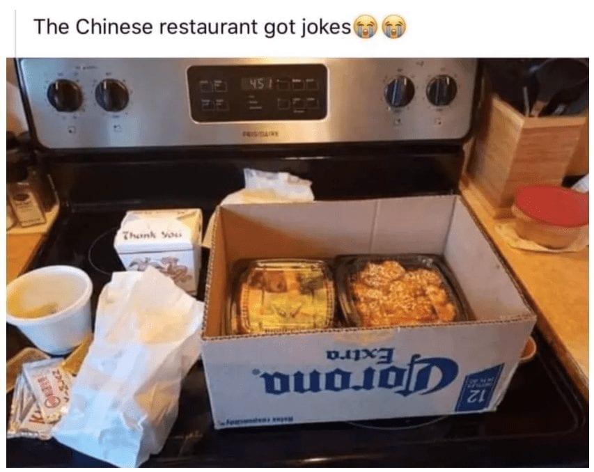 Chinese restaurant quarantine meme