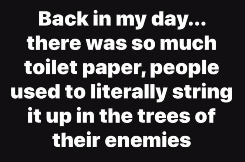 Toilet paper Quarantine meme
