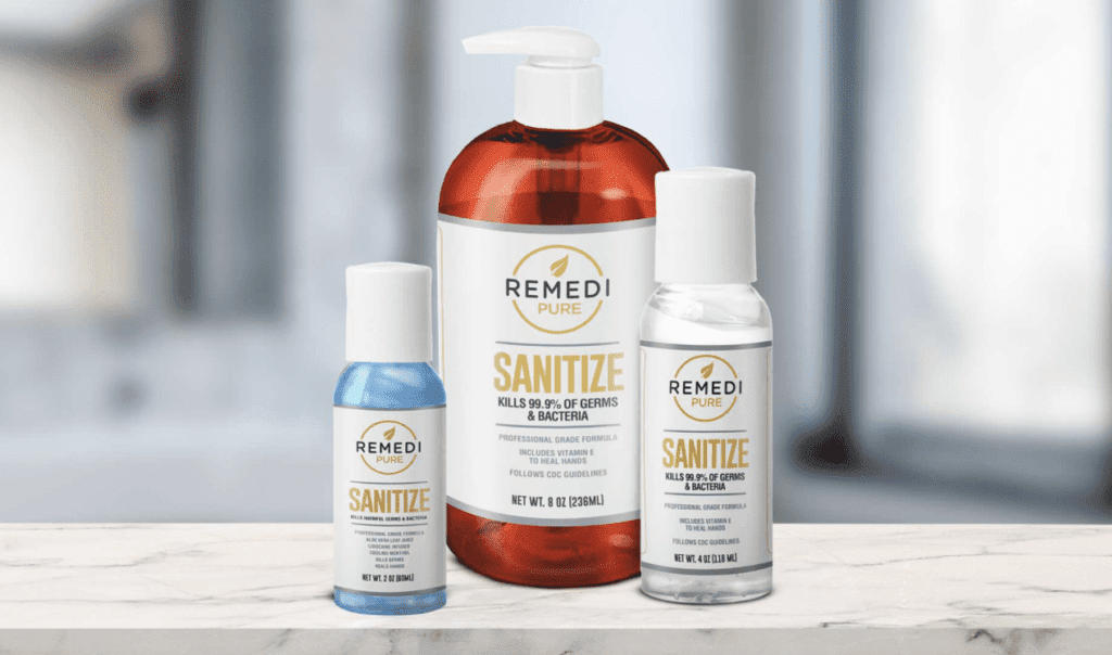 Remedi Pure at Healthy Hand Sanitizer.