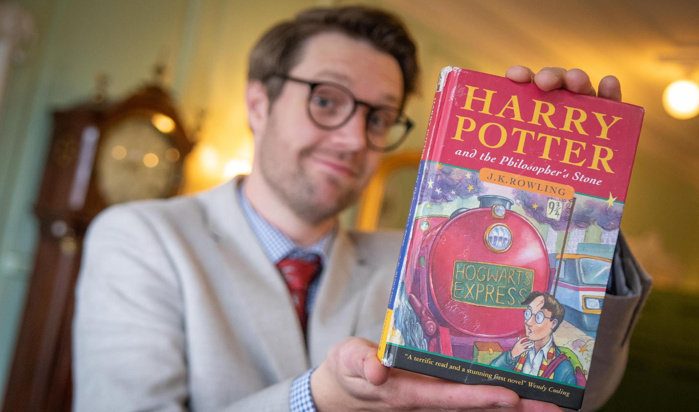 """The first edition of """"Harry Potter and the Sorcerer's Stone"""" is worth how much?"""