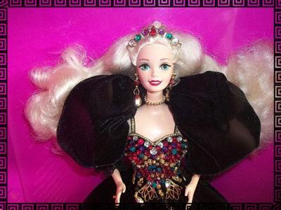 A Jeweled Splendor Barbie Doll sells for around___