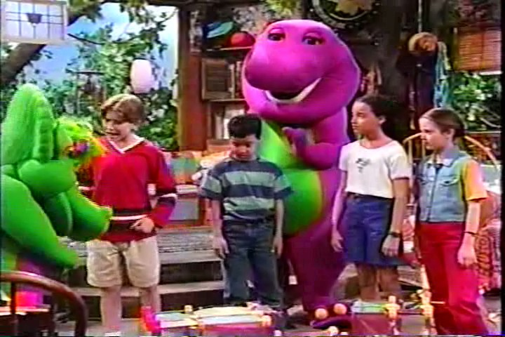 Barney is a dinosaur made out of our imagination and when he grows up ...