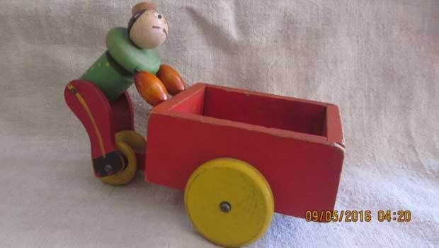 The vintage Fisher Price's push carts are worth around___each