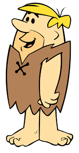I am a fictional character who starred in the television animation series The Flintstones.  I'm the tiny, blond-haired caveman husband of Betty and adoptive father of Bamm-Bamm.  My best friend is my neighbor.  Who am I?