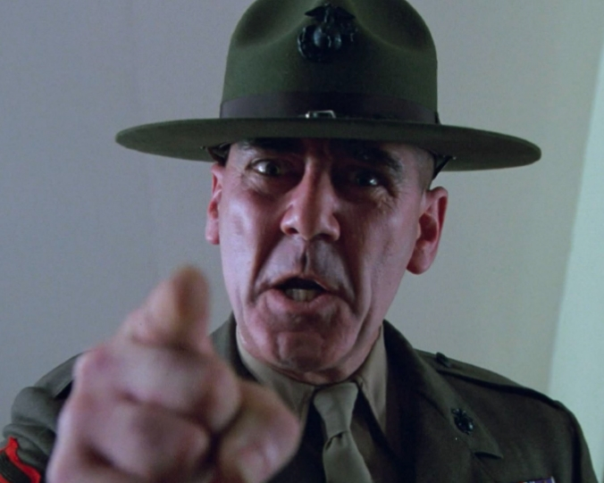 We follow the story of a pragmatic U.S. Marine in the iconic movie _____.