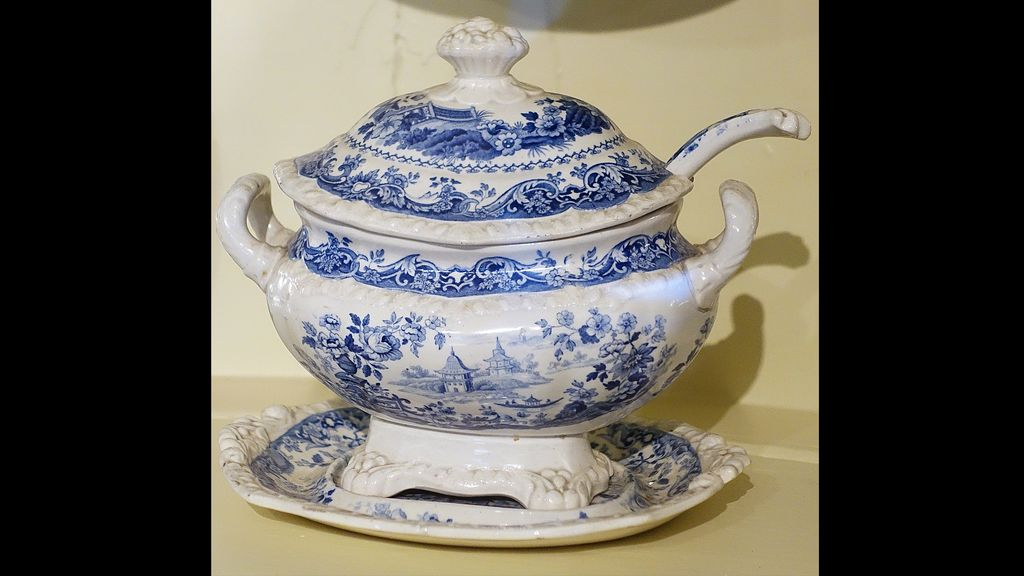 Which item today just sits in the china cabinet?