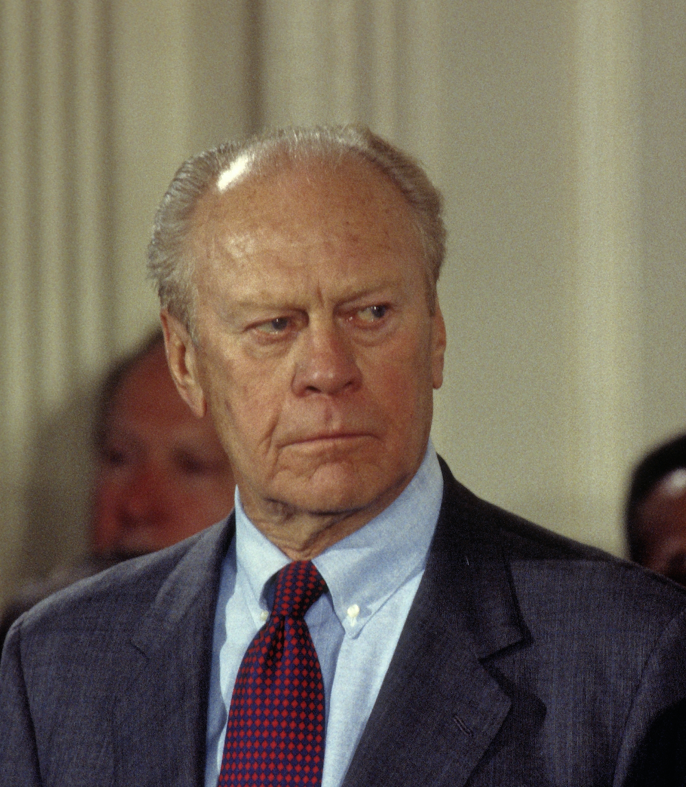 He was an American politician who served as the 38th president of the United States from August 1974 to January 1977. Before his accession to the presidency, Ford served as the 40th vice president of the United States from December 1973 to August 1974.  He took office on August 9, 1974, following the resignation of President Richard Nixon