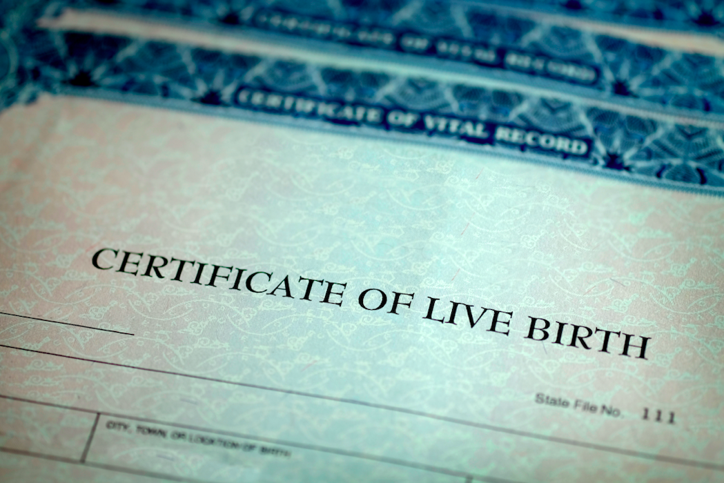 What is Steph's birth certificate called?