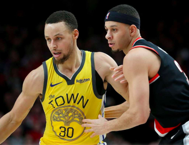 Which NBA team is Steph Curry's brother Seth currently on?