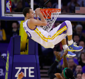 How many dunks has Steph made in the NBA?